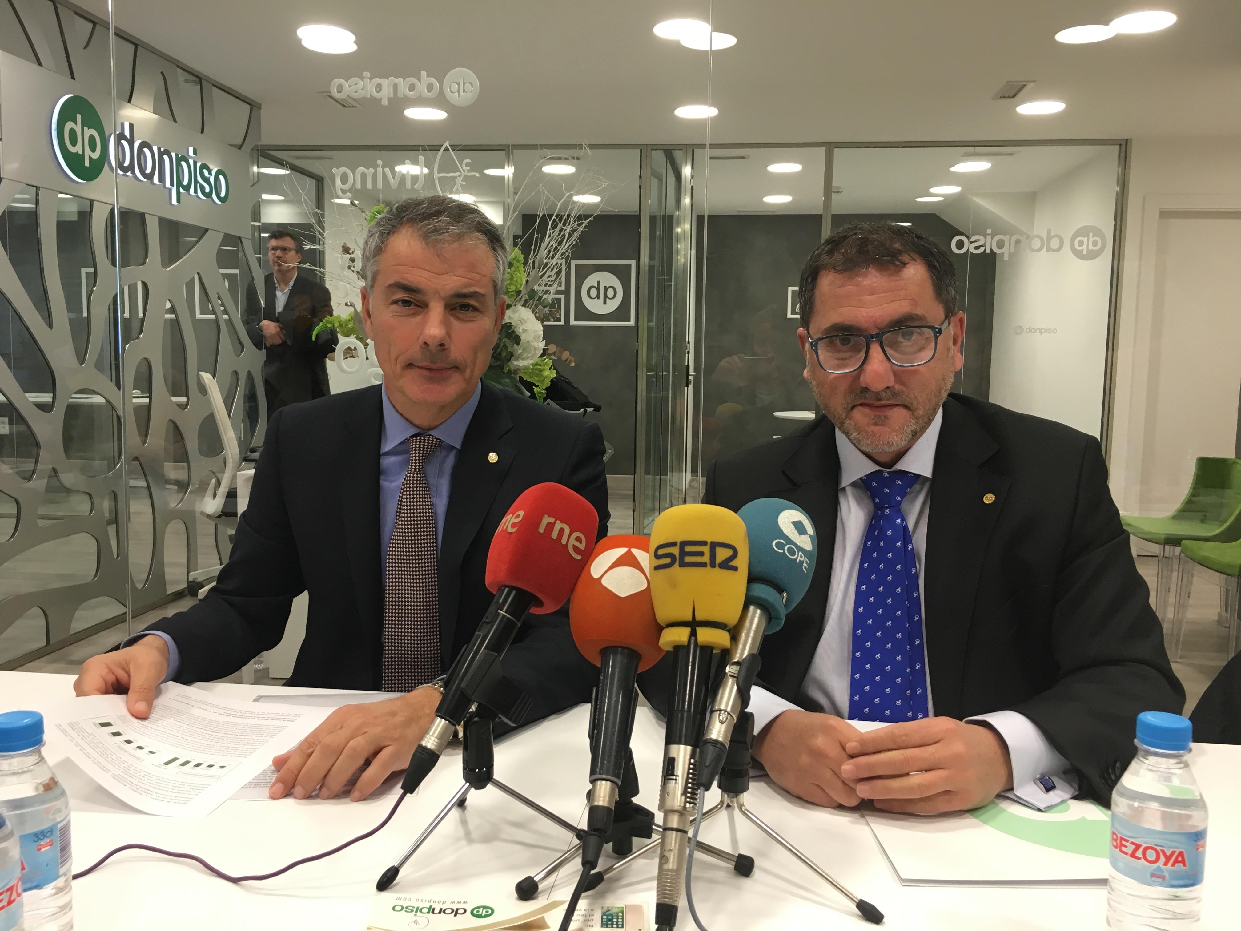 Luis Pérez y Emiliano Bermúdez han presentado los resultados de la compañía en 2017 / DonPiso