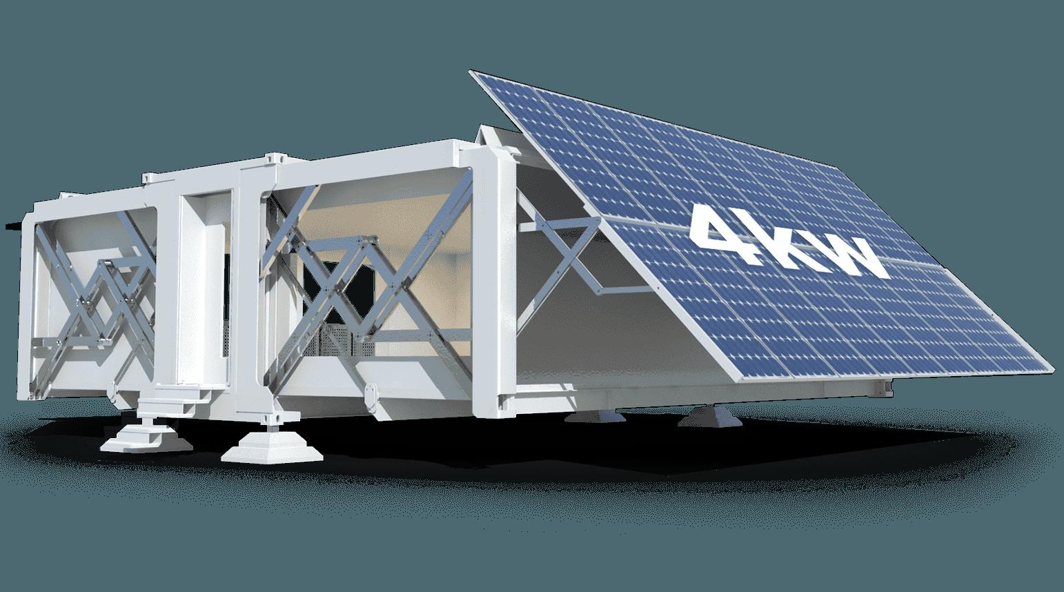 Cuenta con paneles solares