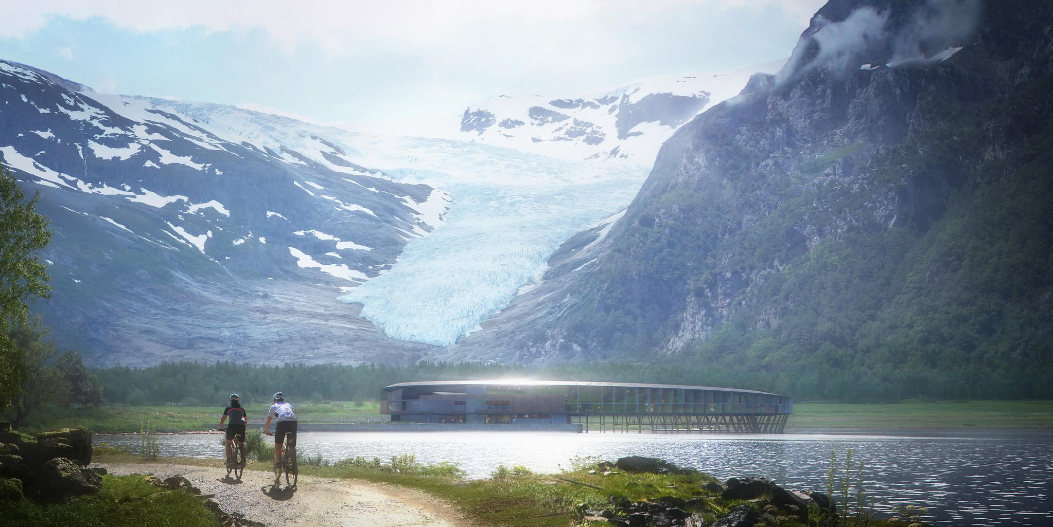 A los pies de la montaña Almlifjellet