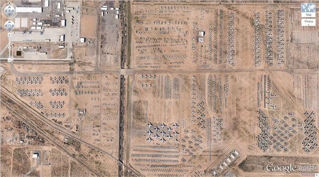 Cementerio de aviones en Tucson, Arizona