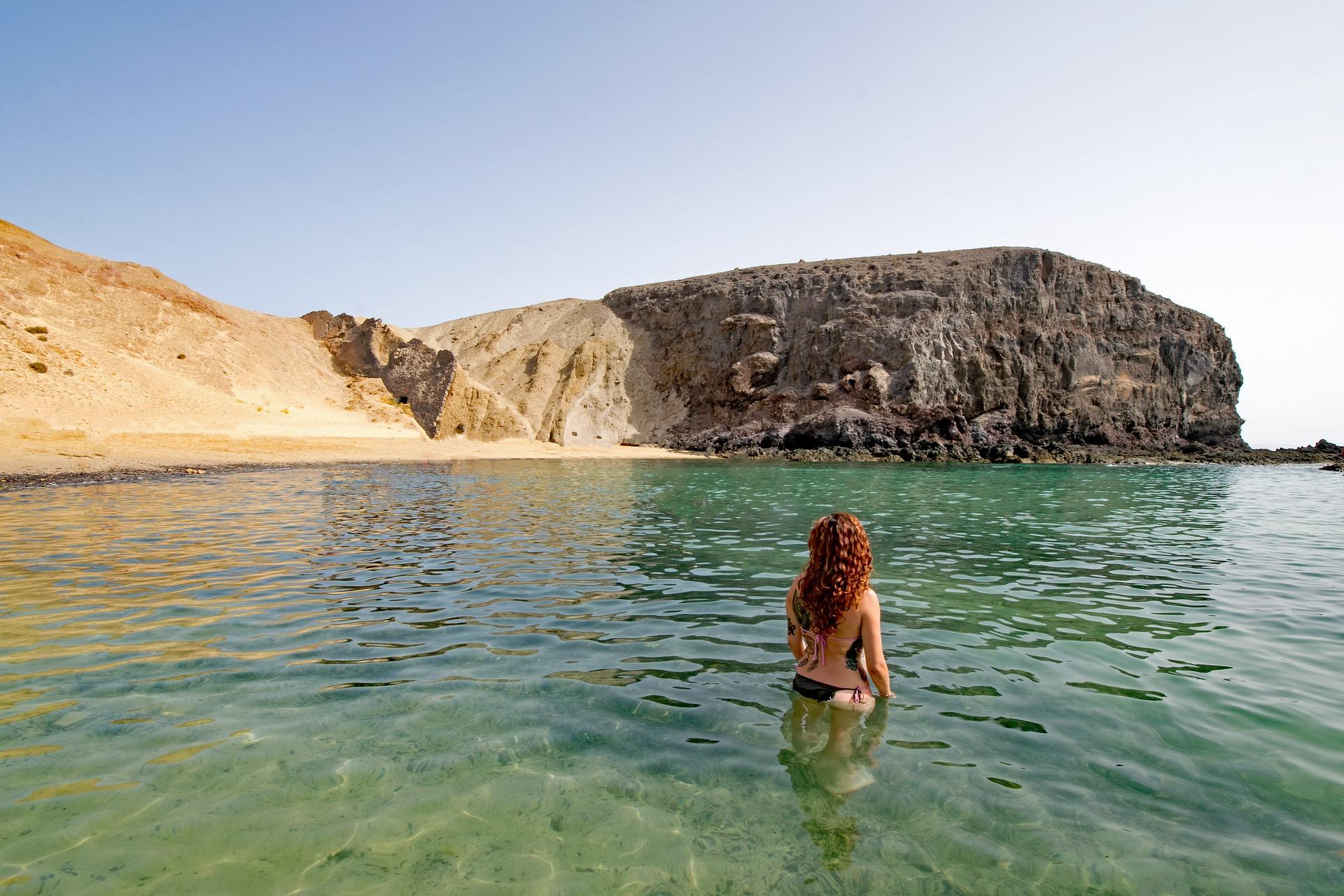 Un plan de playa: Lanzarote