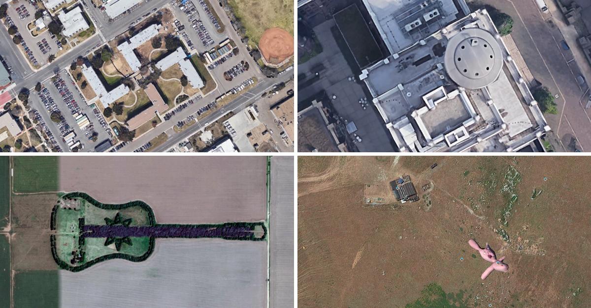 Cuatro de las fotografías más curiosas tomadas con Google Earth