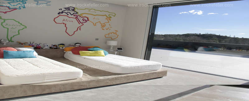 Detalle de las camas