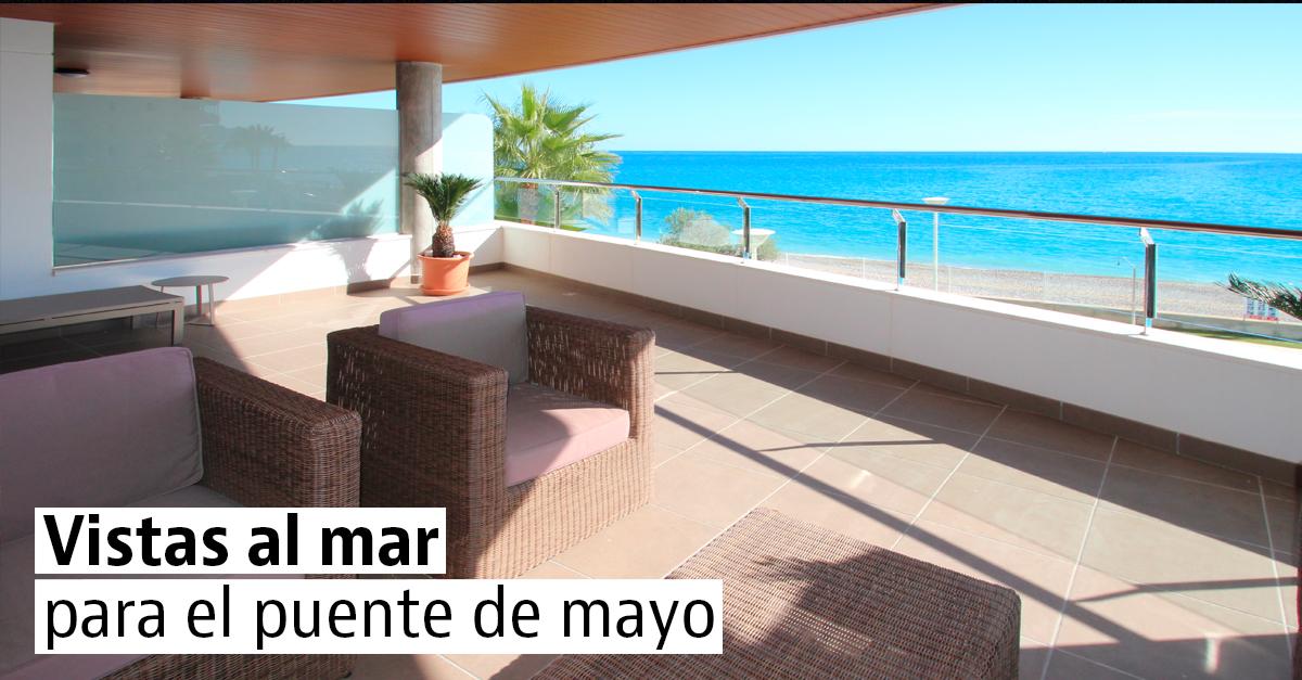 Apartamentos y casas con vistas al mar libres para el puente de mayo