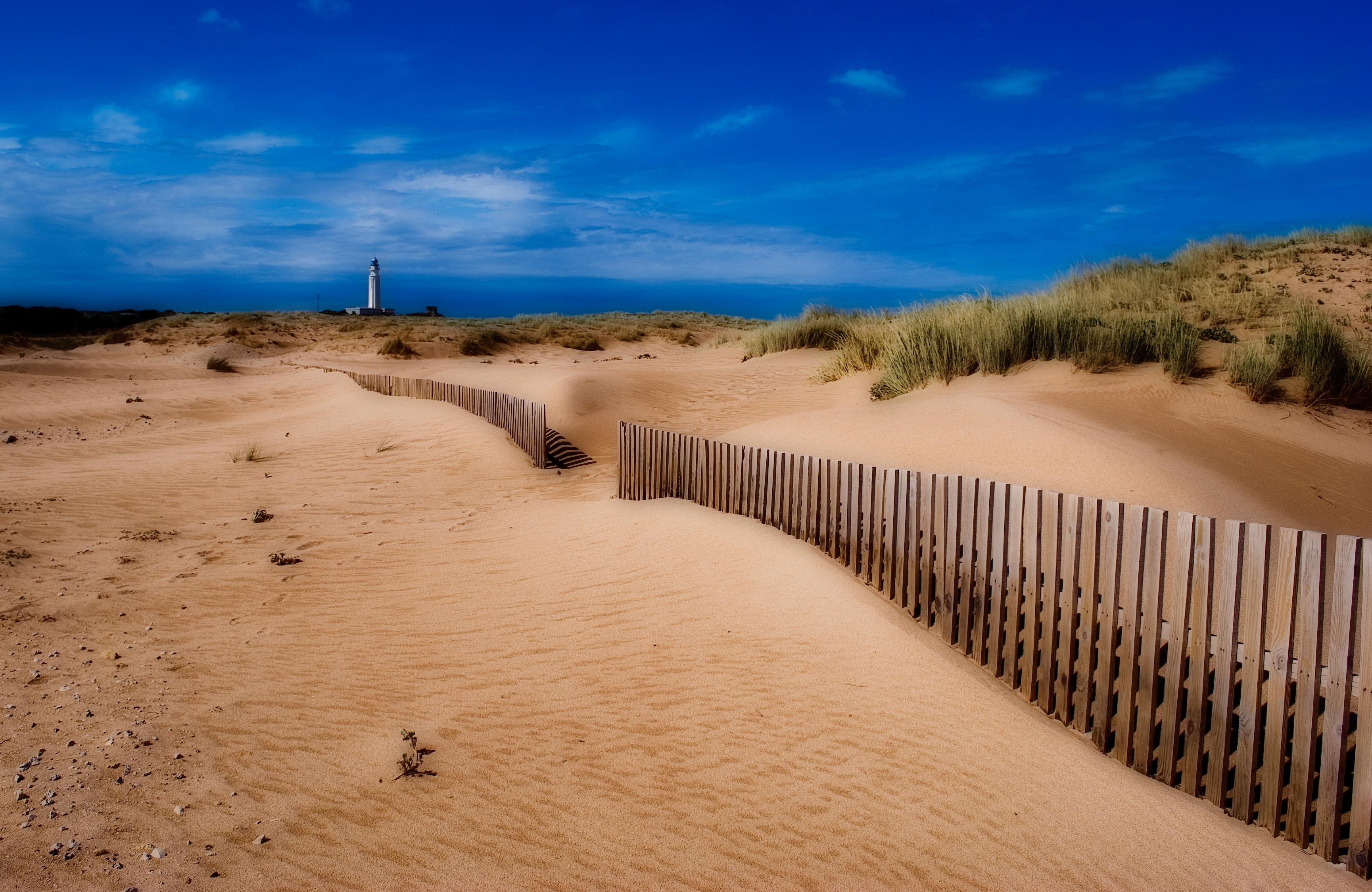 Playas en la costa de Cádiz