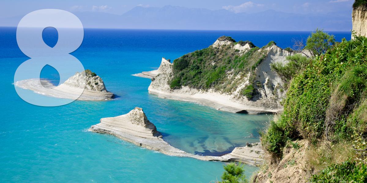 Corfú, Grecia: 91.2 libras, 104,2 euros