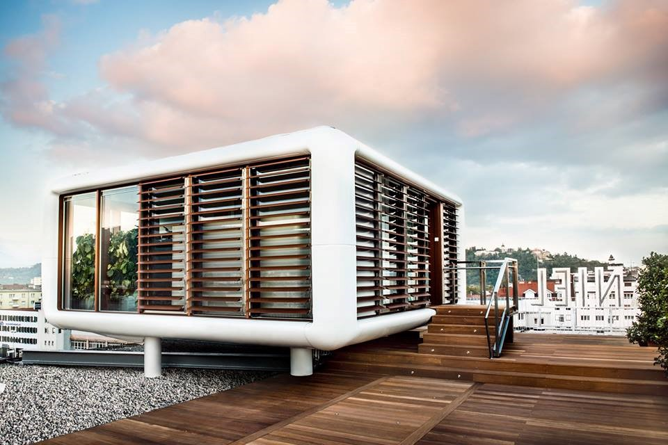 Tiene una vista 360 grados de la ciudad de Graz (Austria)