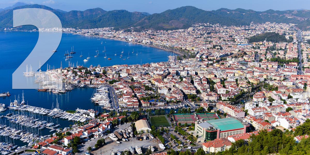 Marmaris, Turquía: 56.8 libras, 65 euros