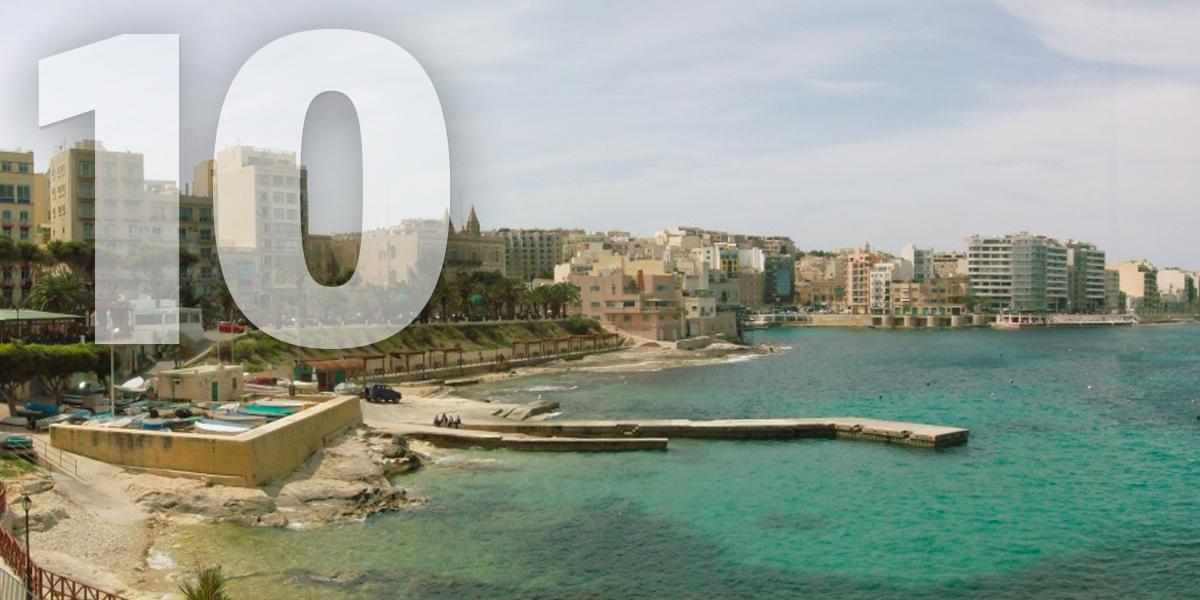 Sliema, Malta: 98.6 libras, 112,6 euros