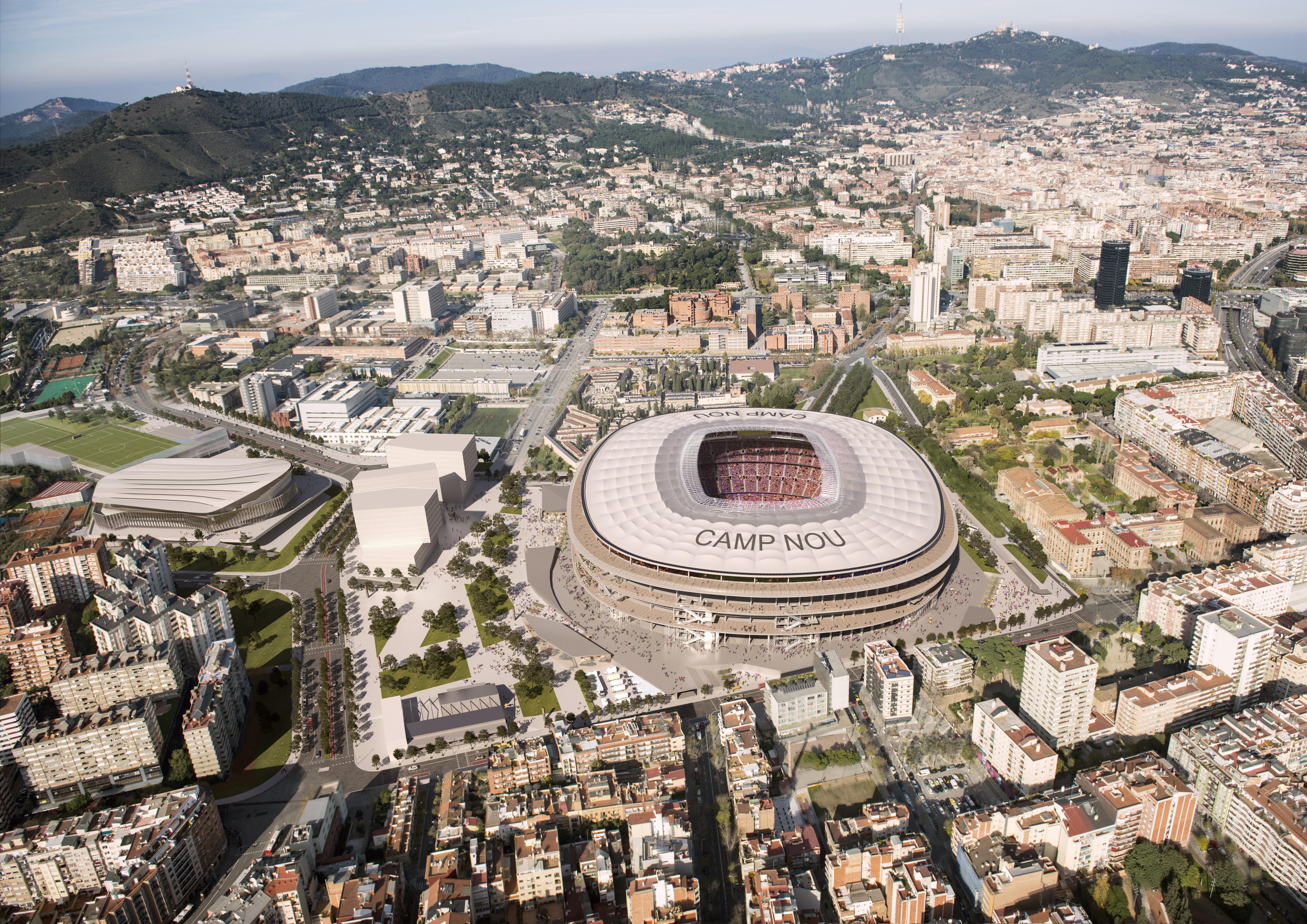 Las instalaciones del Barça solo se cerrarán cuando haya partidos para controlar el acceso. / Ajuntament de Barcelona