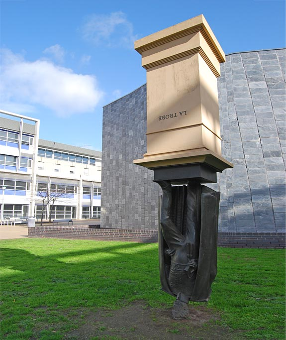 Upside Down Charles La Trobe Statue