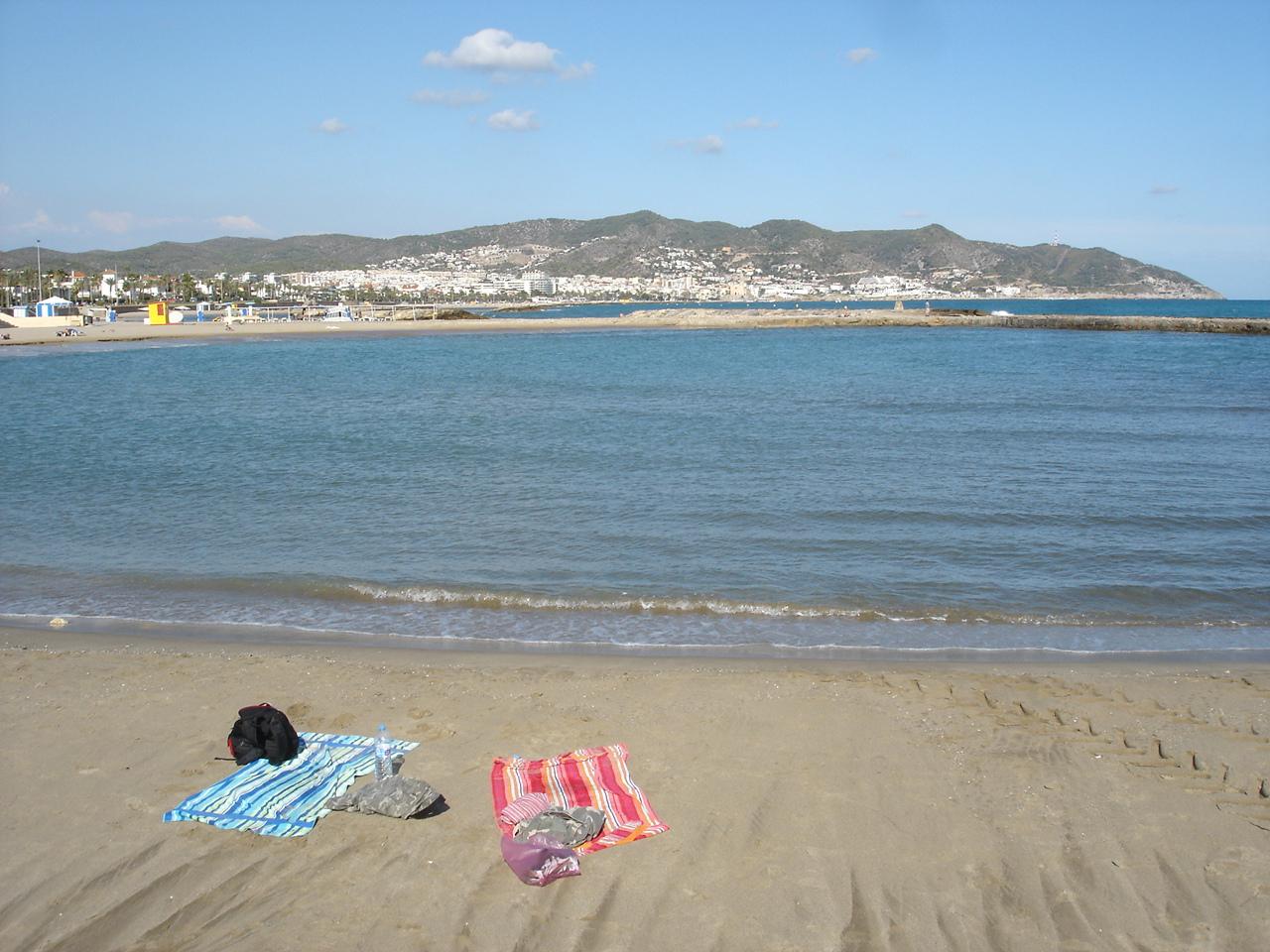 Playa Terramar en Sitges