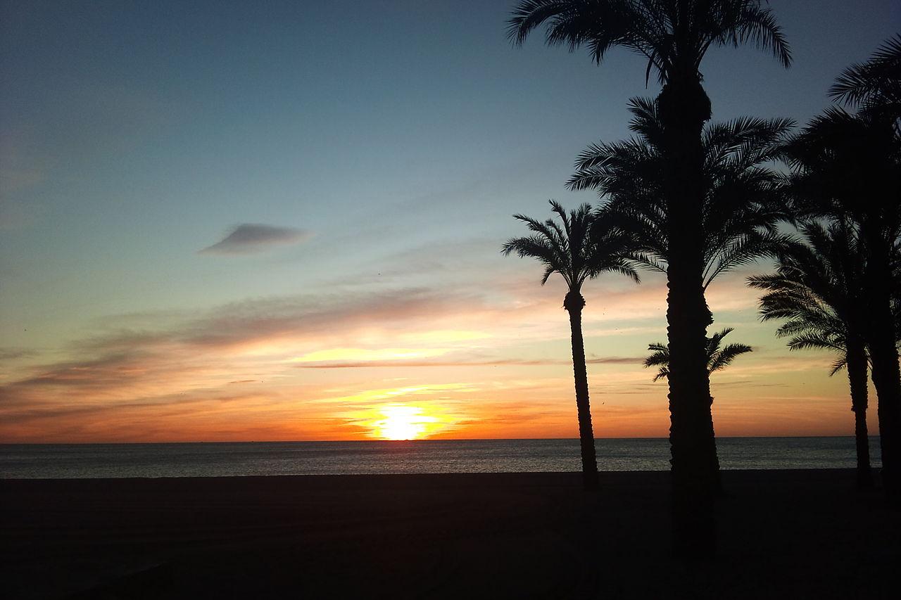 Playa de Los Álamos en Torremolinos