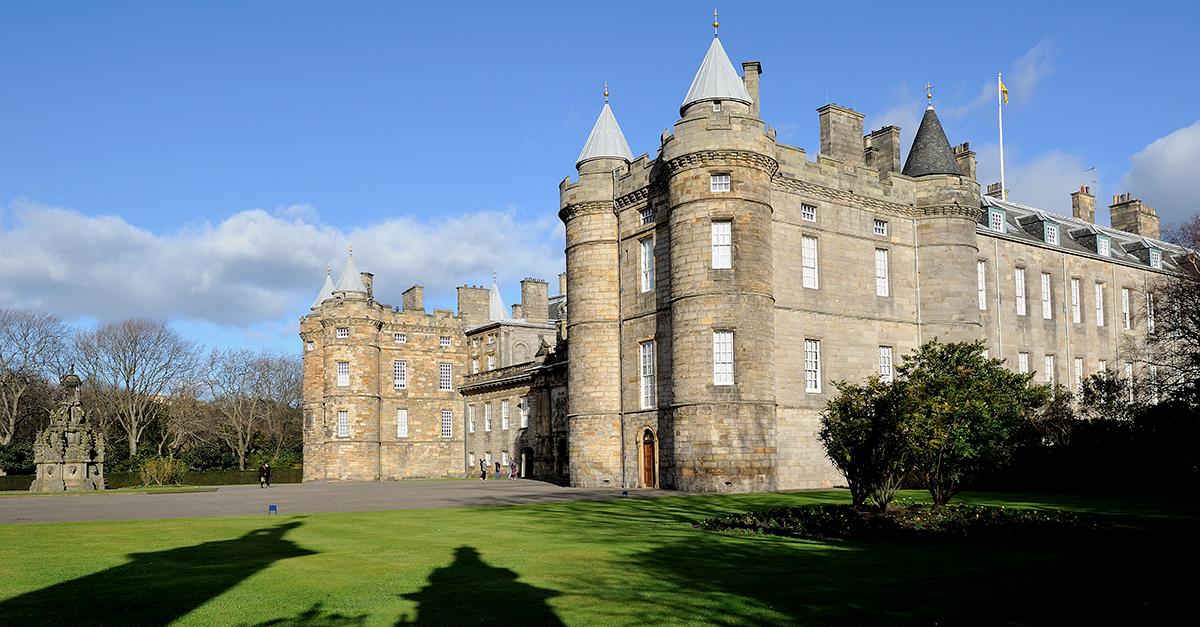 El palacio de Holyroodhouse, Edimburgo