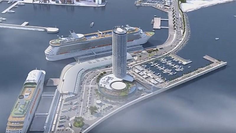 Simulación del futuro hotel rascacielos en el puerto de Málaga / La Opinión de Málaga