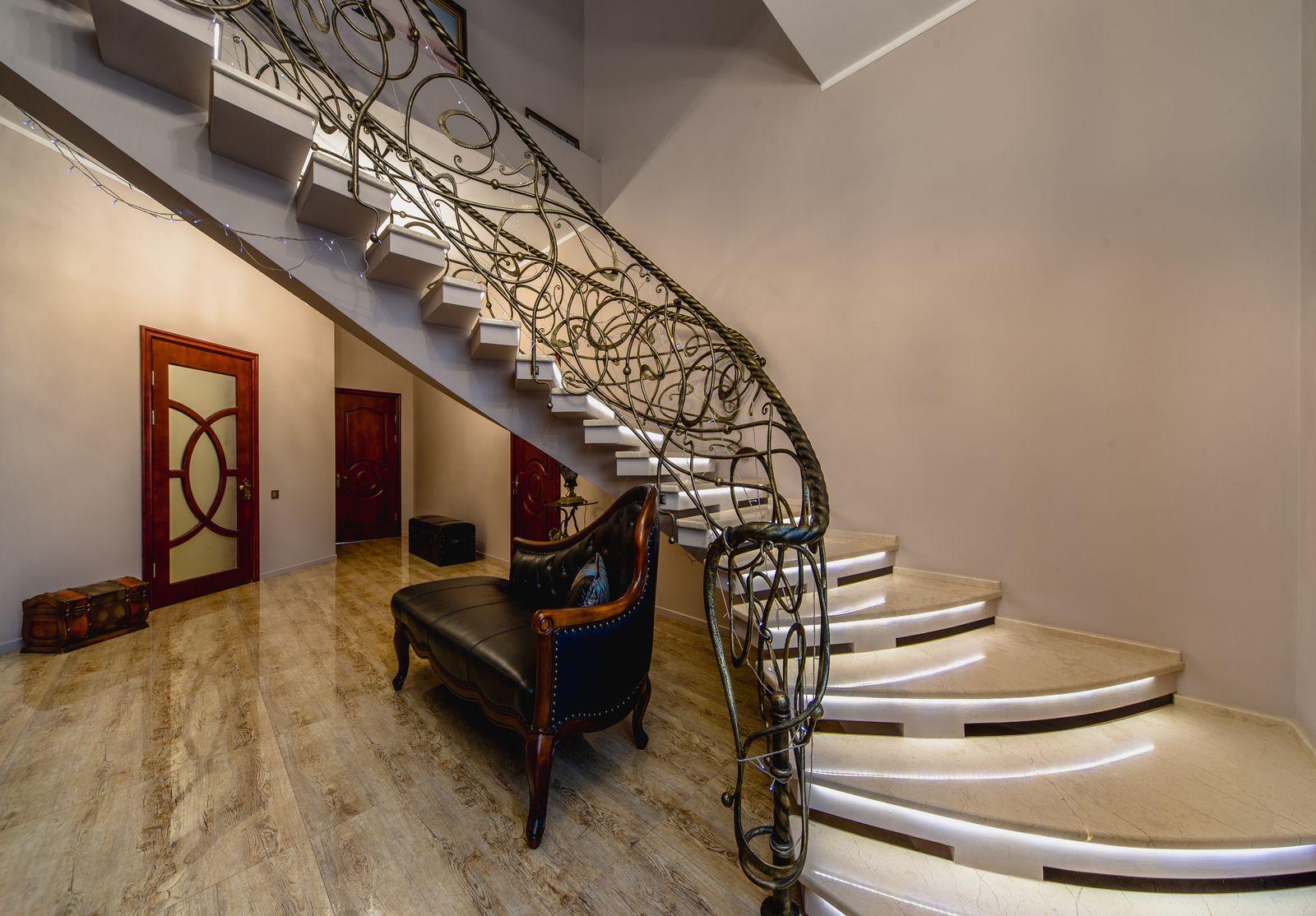 Detalle de la escalera