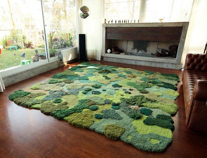 La alfombra jardín 3D