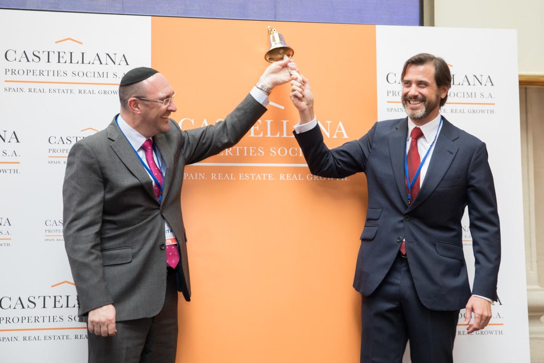 Izqda. Laurence Rapp, CEO de Vukile; dcha. Alfonso Brunet, CEO de Castellana Properties