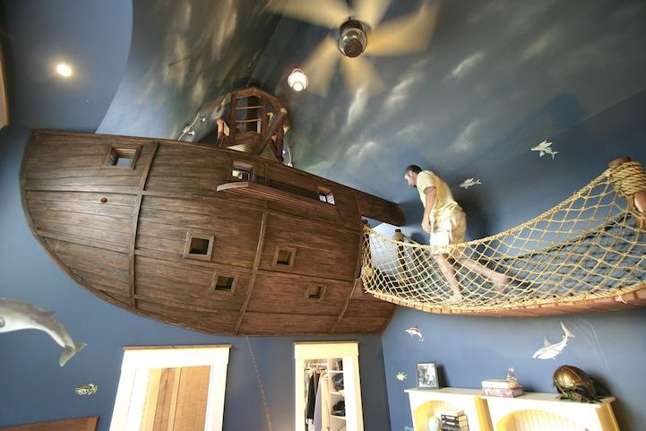 Un barco pirata en el dormitorio / My Modern Met