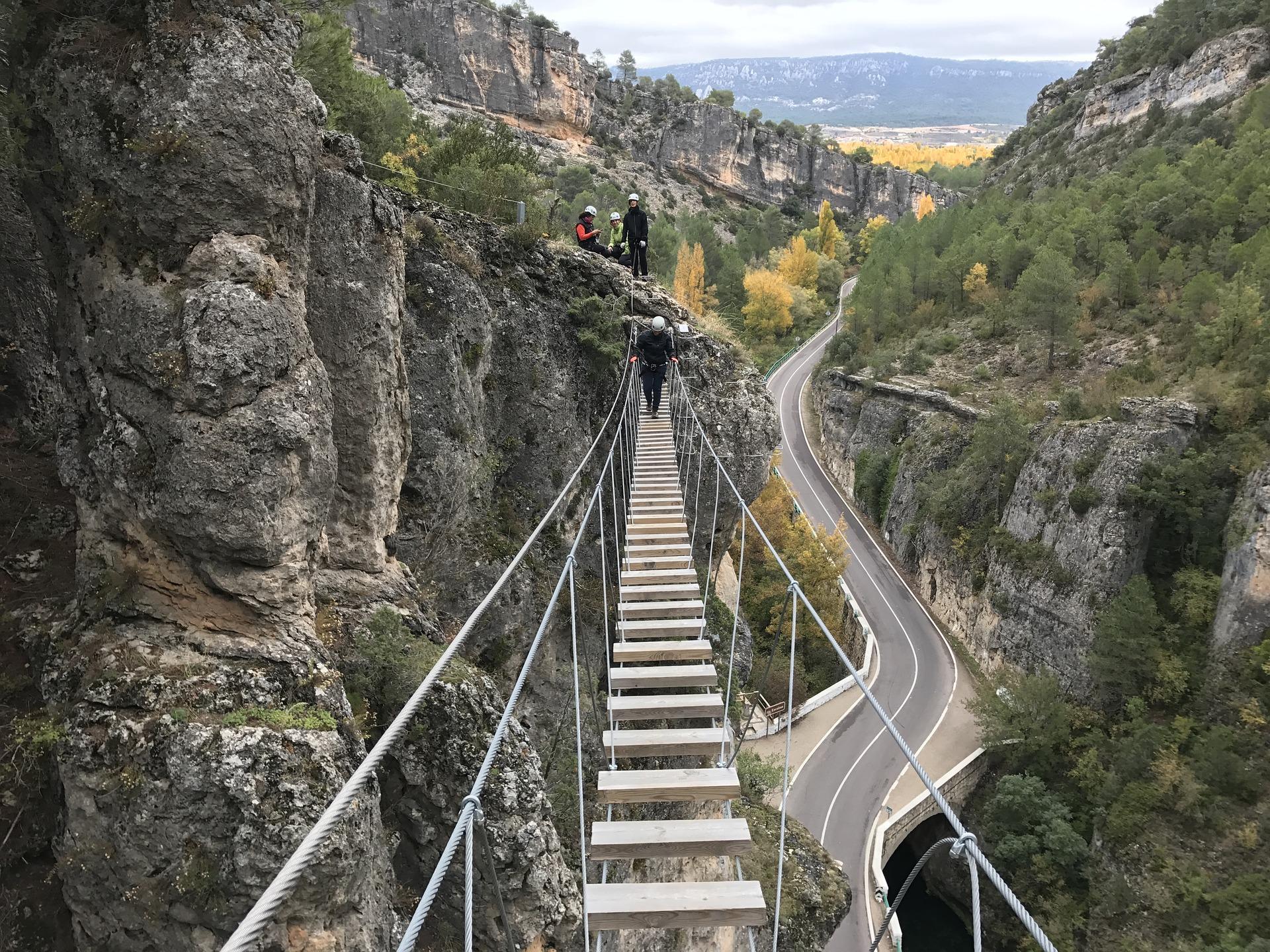 Vía Ferrata de Priego en Cuenca