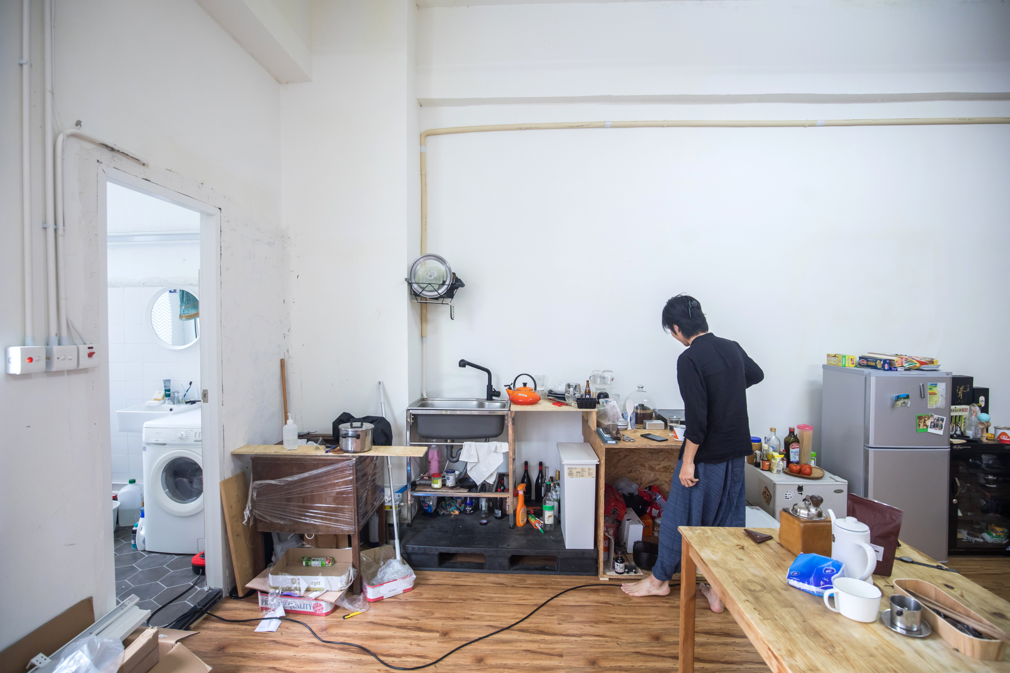 Cocina de un apartamento de un edificio industrial / Paul Yeung/Bloomberg