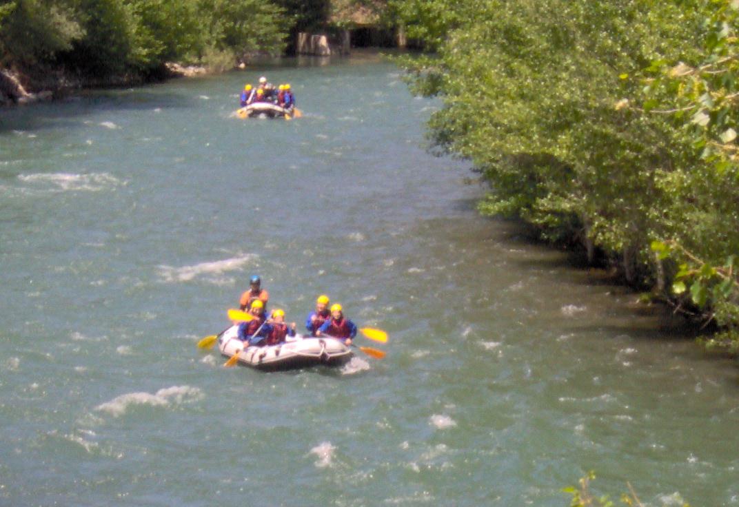Rafting en el río Noguera Pallaresa de Lleida