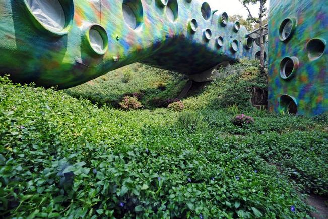 Detalle de la Casa Serpiente / Arquitectura orgánica/ Javier Senosiain