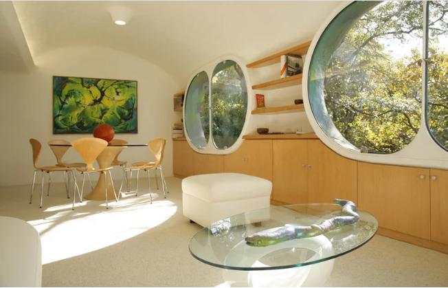 Salón comedor interior / Arquitectura orgánica/ Javier Senosiain