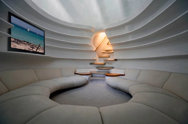 Salón / Arquitectura orgánica/ Javier Senosiain