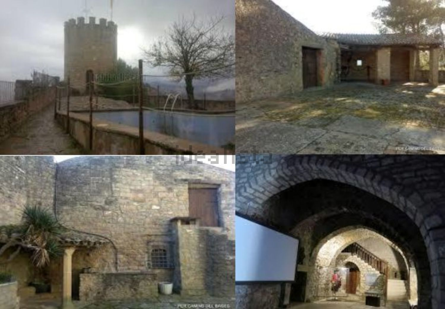 Collage de distinas partes del castillo