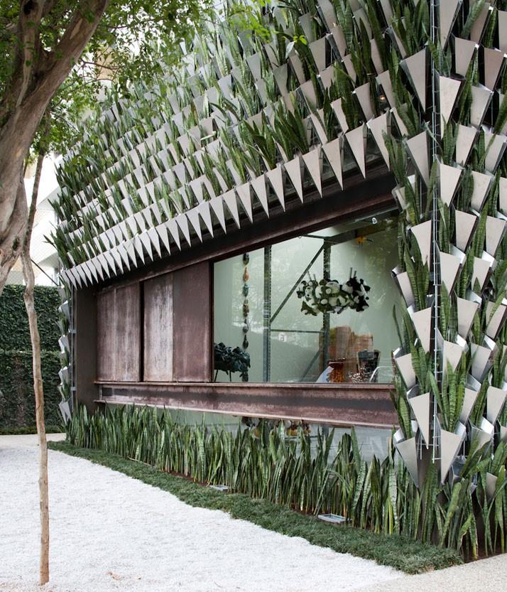 Las plantas cambian la estética del edificio
