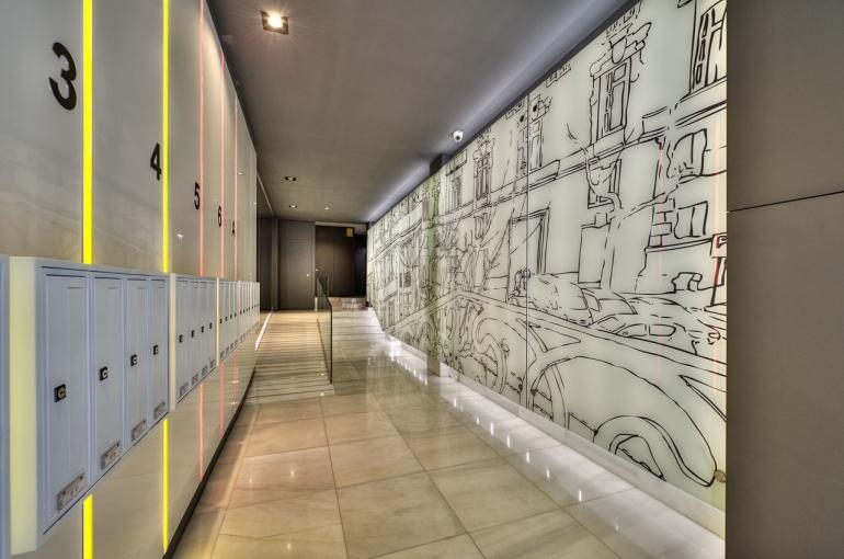 Hall del edificio / Foto: Bcn Design Flats
