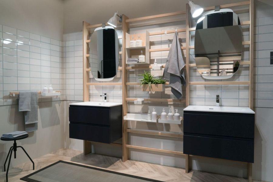 Pareschi ha fusionado hábilmente la decoración del baño con accesorios de fitness sin alterar la utilidad / HomeEdit