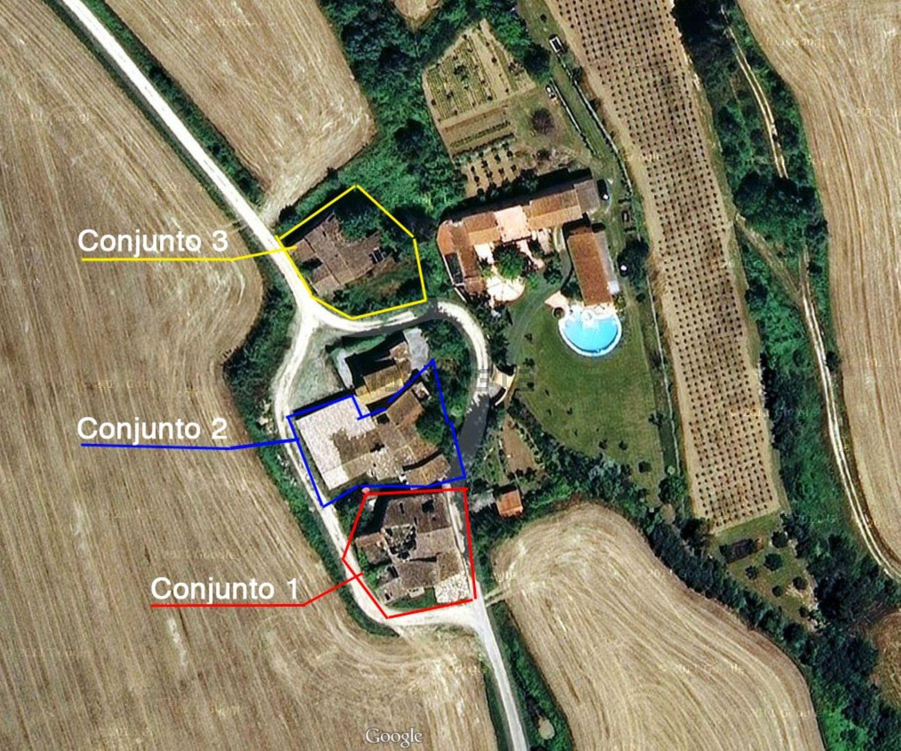 La propiedad vista desde el aire