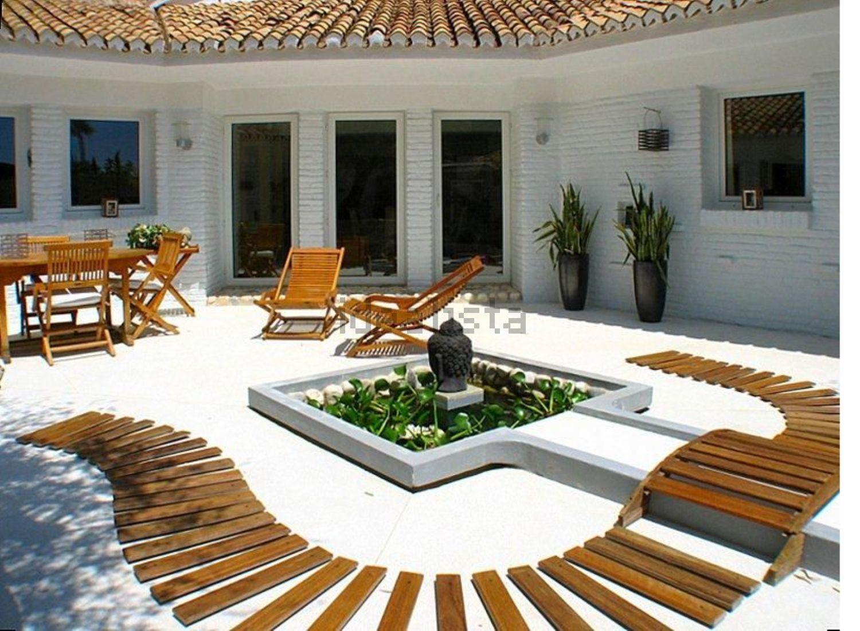 Una terraza ideal para tomar el sol