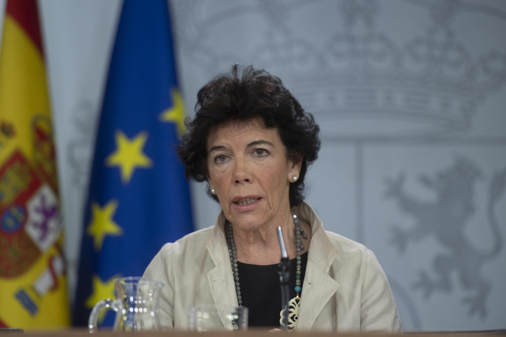 Isabel Celaá, ministra de Educación y portavoz del Gobierno / Foto: La Moncloa