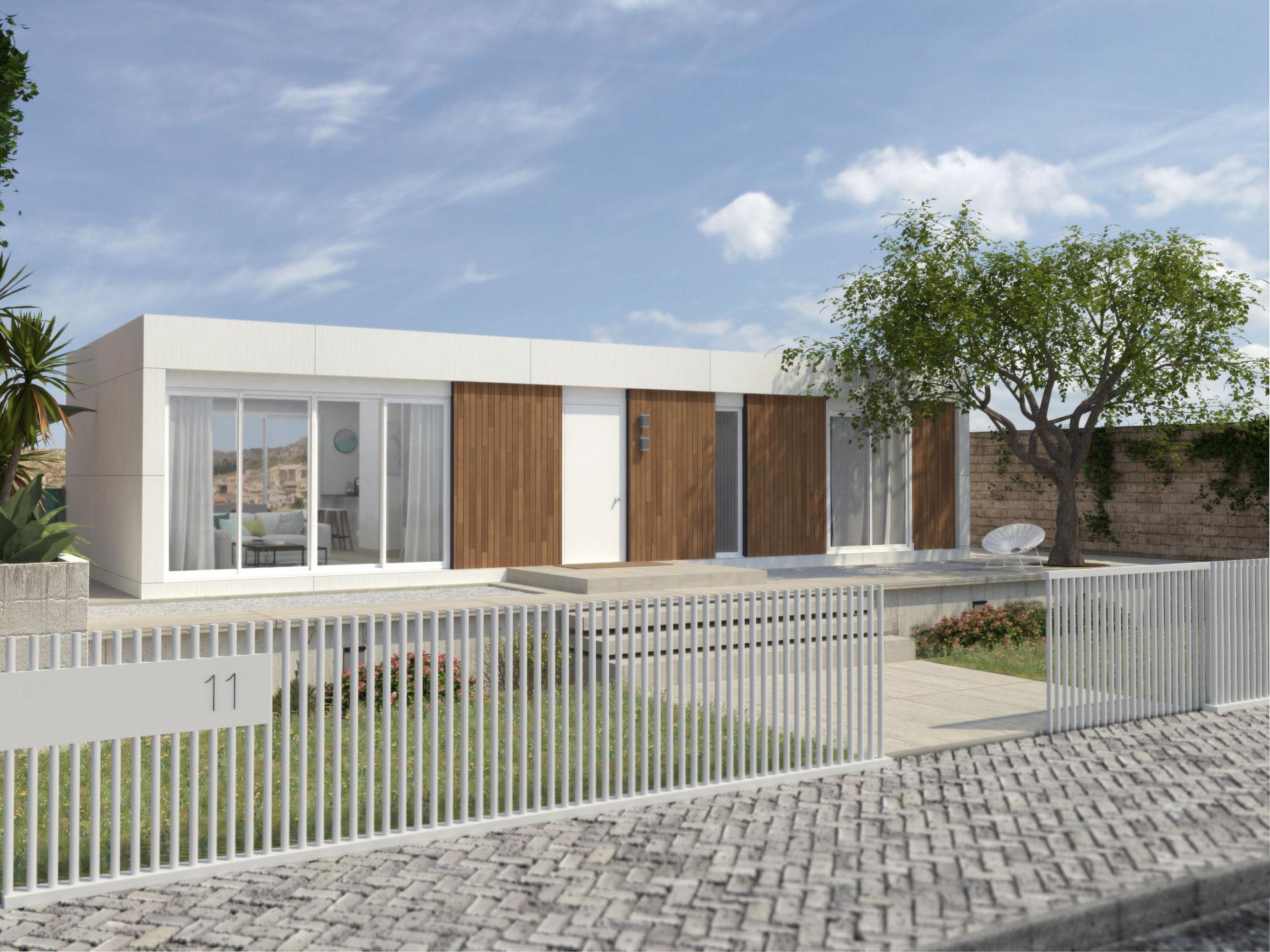 Exterior del modelo Aura / Atlántida Homes