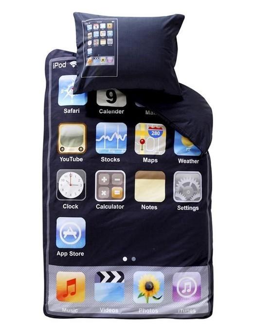 Cama diseñada para parecer la pantalla principal de Iphone / JotForm