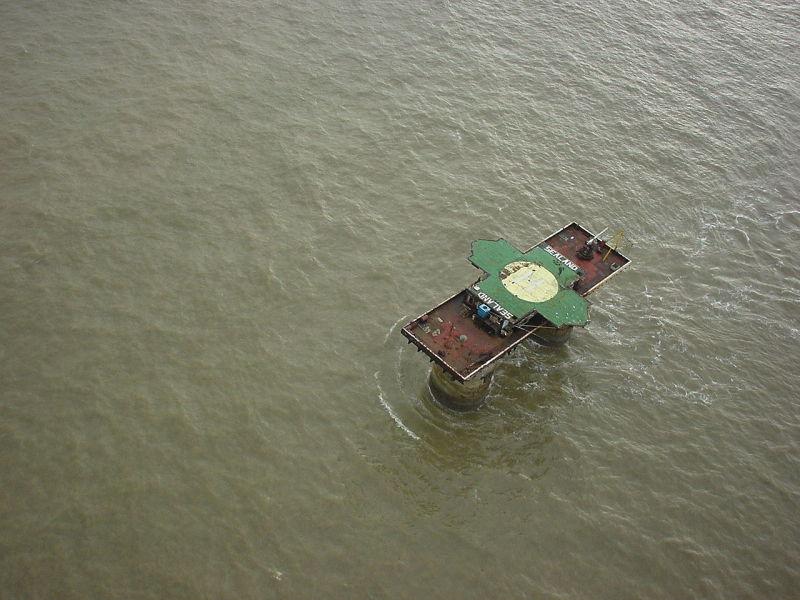 Sealand vista desde el aire / Wikimedia Commons
