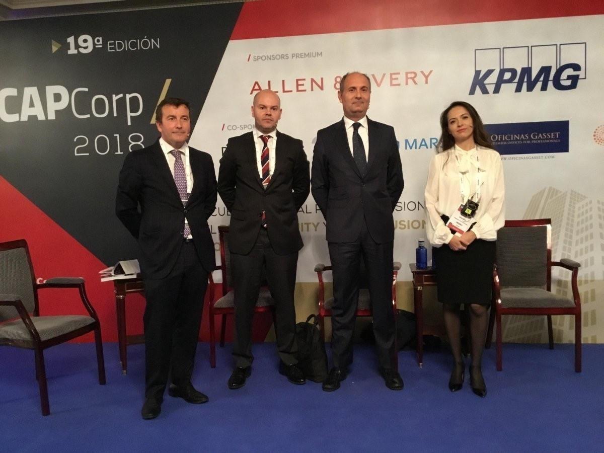 Óscar Sánchez Melgosa (Norgestión), Ramón Gayol (KPMG), Miguel Ollero (Merlin Properties) y Mariela Martínez (Temprano Capital)