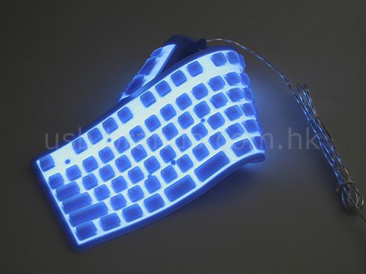 Teclado flexible y luminiscente / JotForm