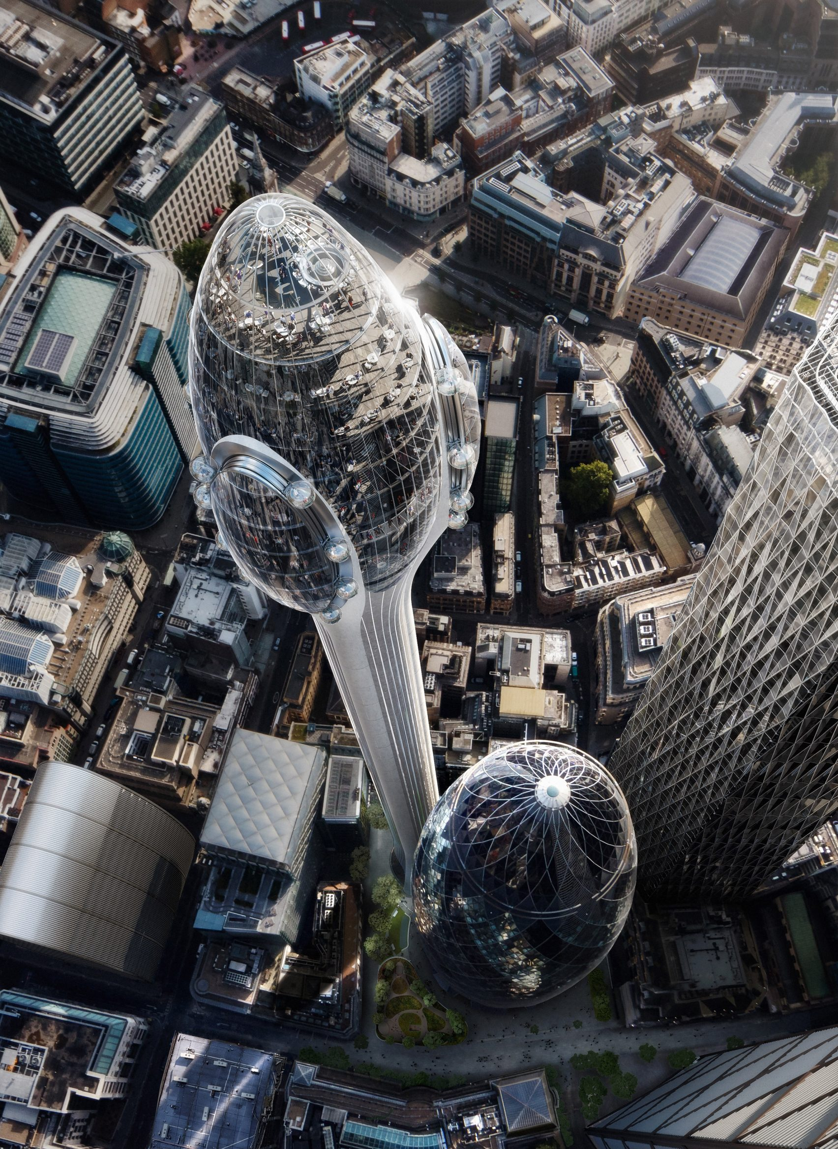 Vista desde el cielo / DBOX for Foster + Partners