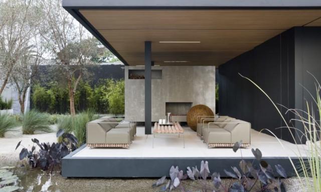 Una moderna casa prefabricada construida con materiales reciclados en solo un mes