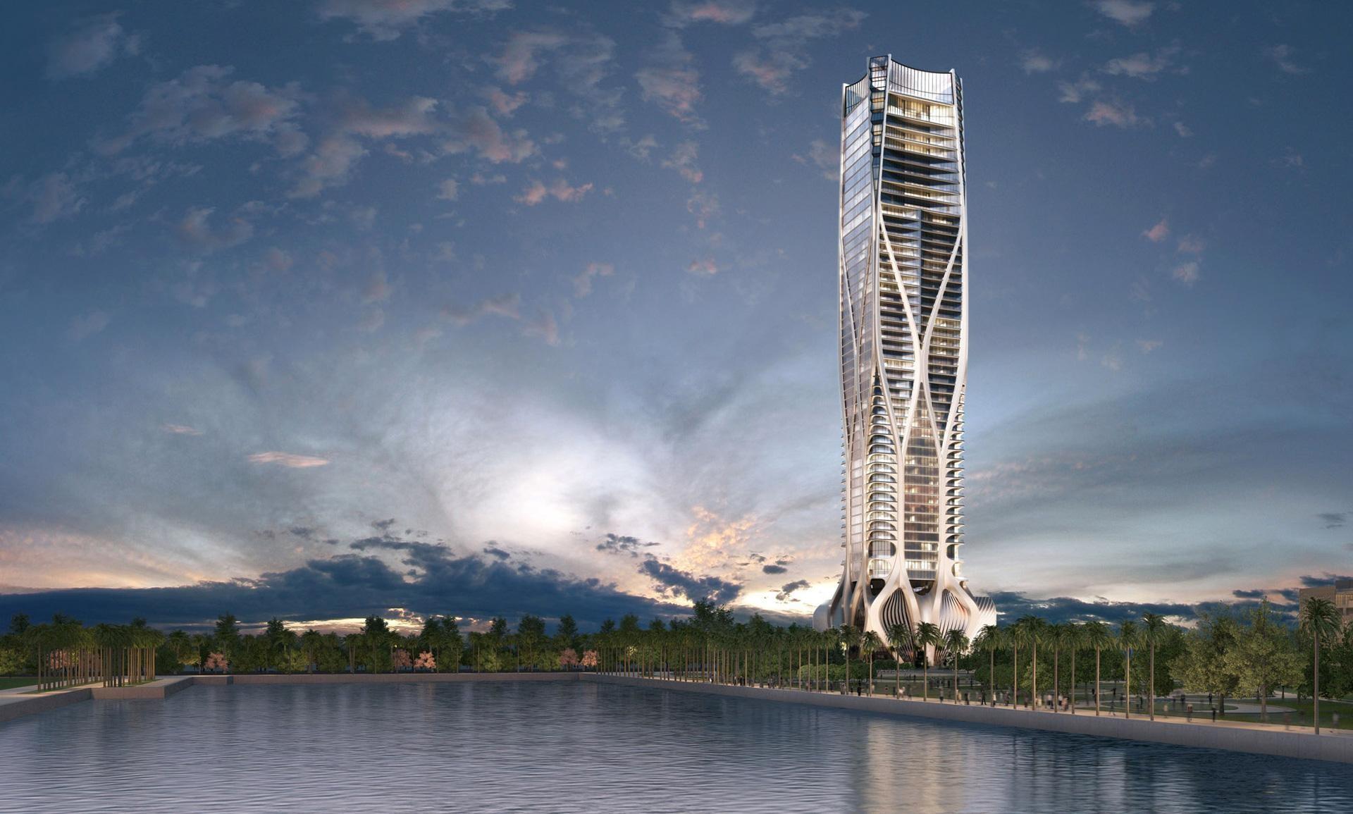 Es un diseño de la fallecida Zaha Hadid y mide más de 200 metros