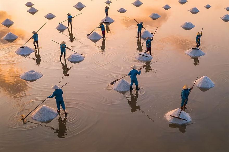 Mina de sal en Vietnam / Trung Pham