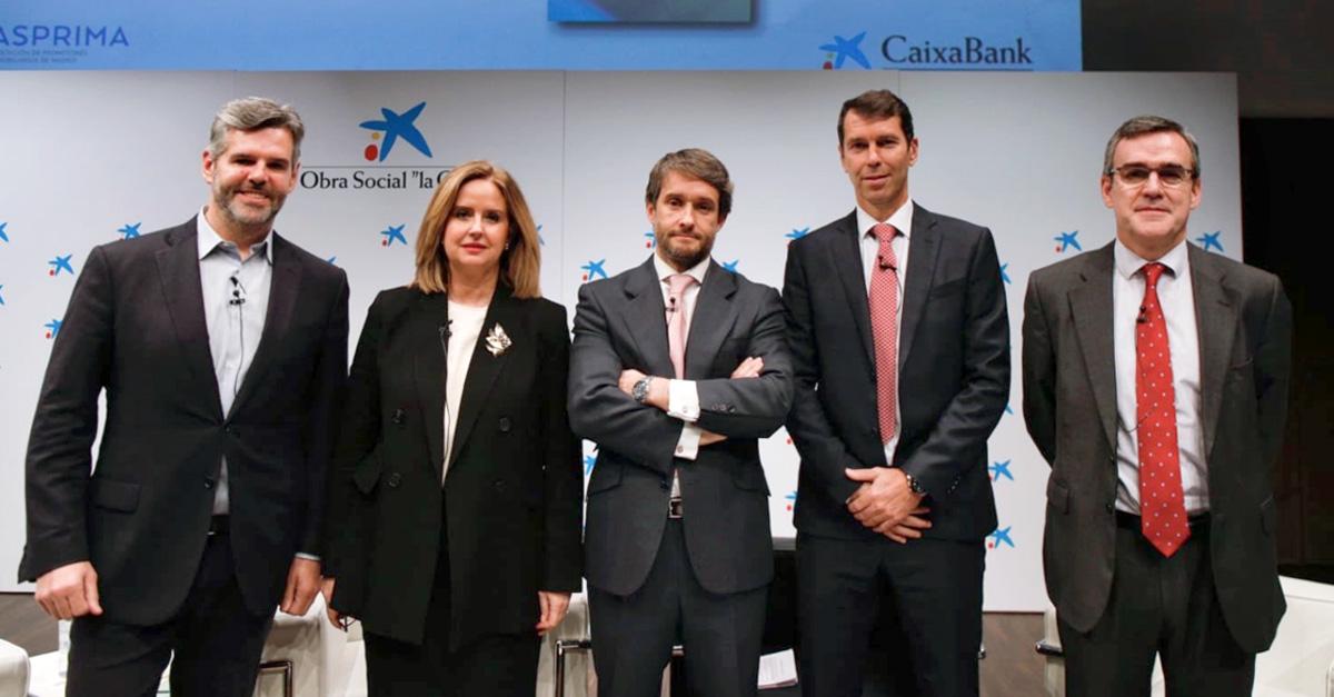 De izq a dcha.: Fernando Encinar, Helena Beunza, Sergio Calvete, Javier Rodríguez y Mikel Echevarren / Ministerio de Fomento