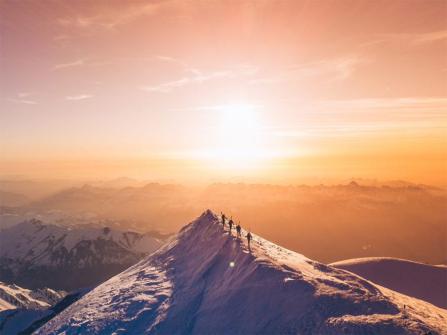 """Summit For The Team, Mont Blanc"" / SkyPixel"