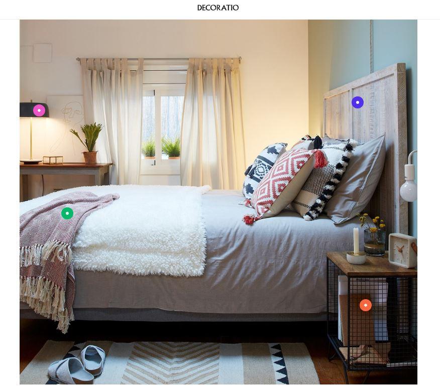 Los puntos de la imagen contienen la información para comprar el producto / Decoratio