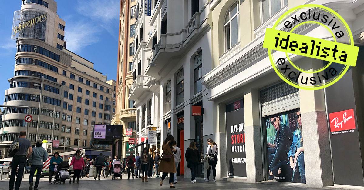 4fc7bc7a6347ac Ray-Ban se instala en el  prime  de la Gran Vía de Madrid junto a Inditex y  Primark