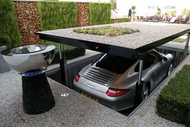 El mejor escondite para coches de lujo / Pinterest